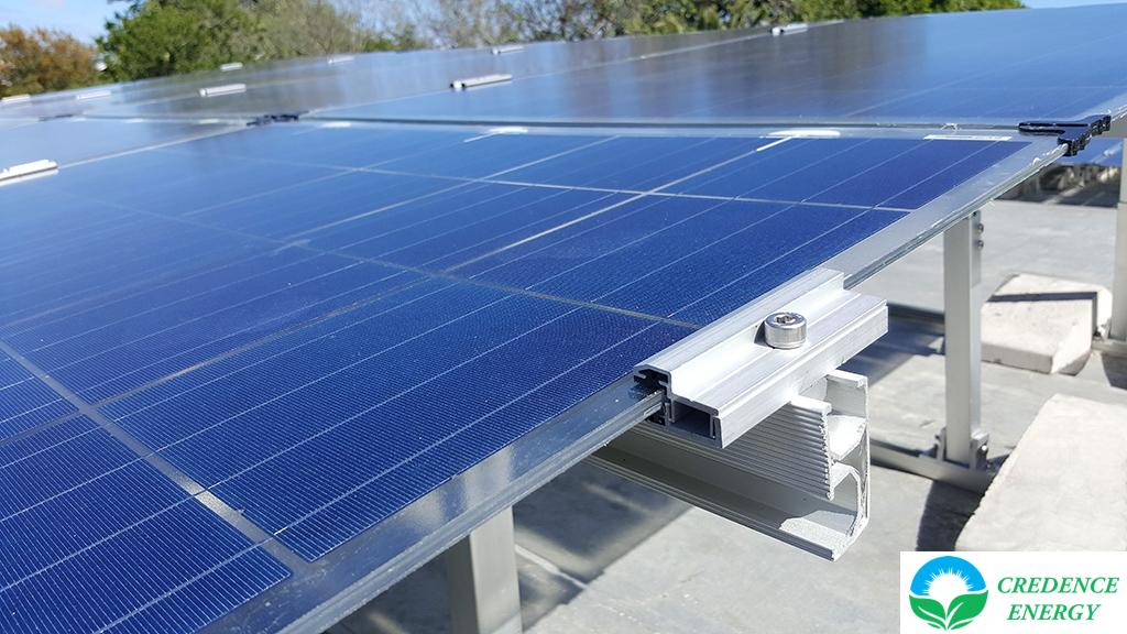 Credence frameless solar panel